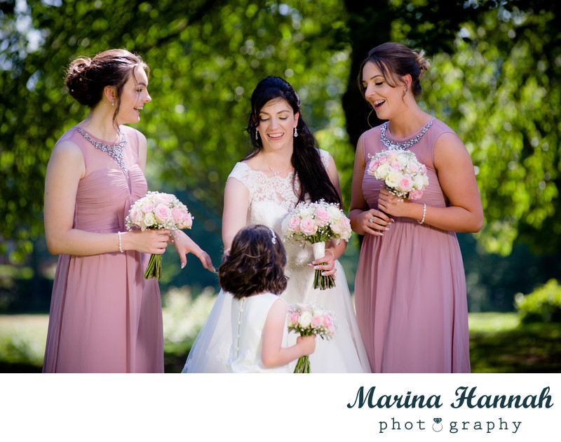 Photographing the bridal party