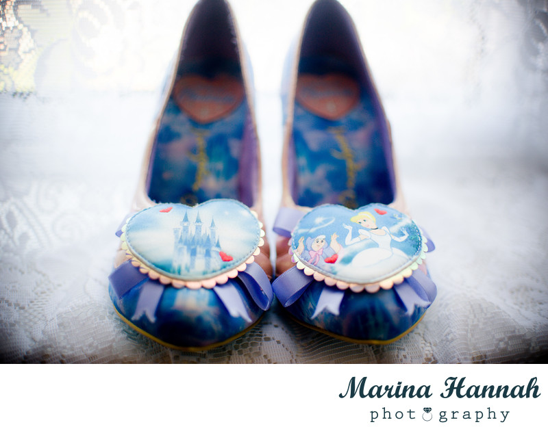 Disney style wedding shoes