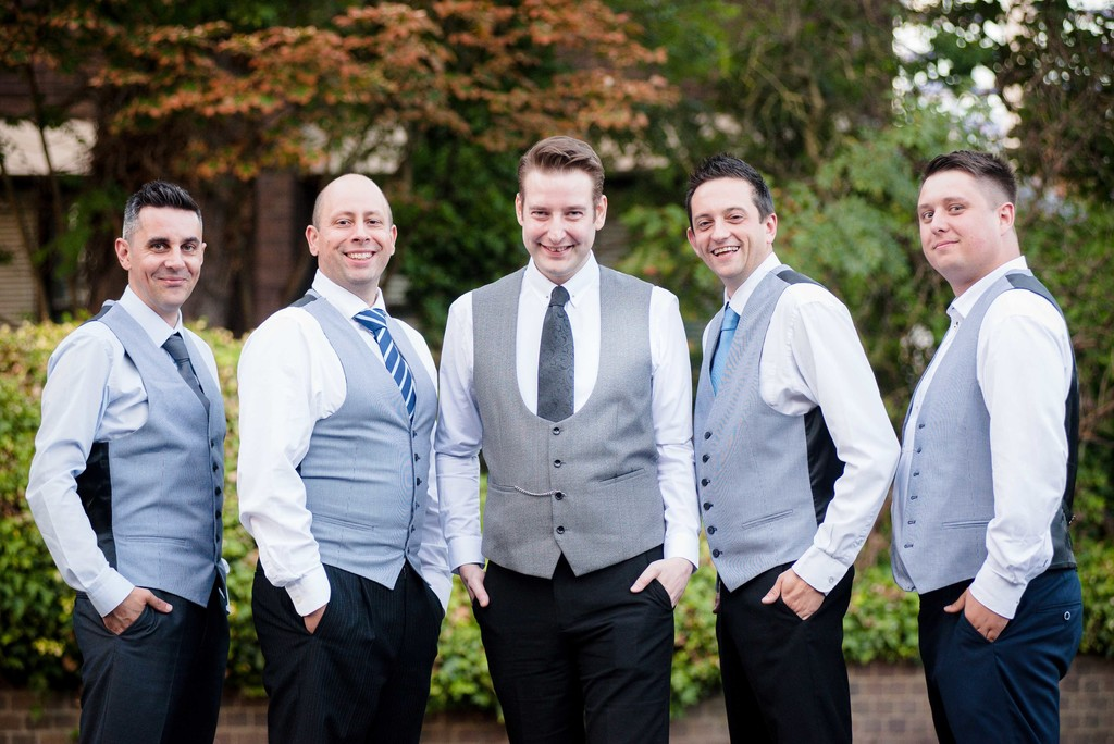 Groom & his groomsmen at Birmingham wedding