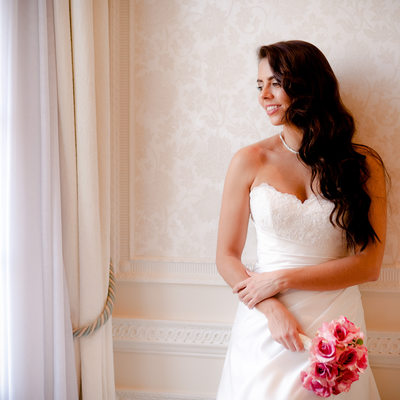 Bride at Rowton Castle wedding