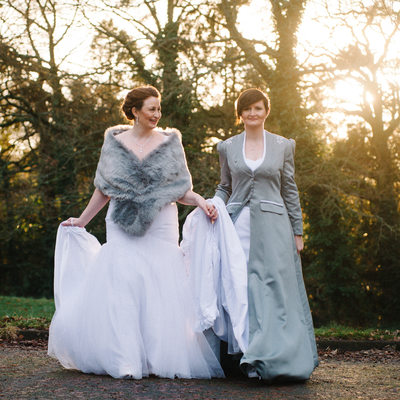 Same sex winter wedding in Bewdley
