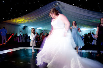 Bride hitting the dance floor at Nailcote Hall wedding