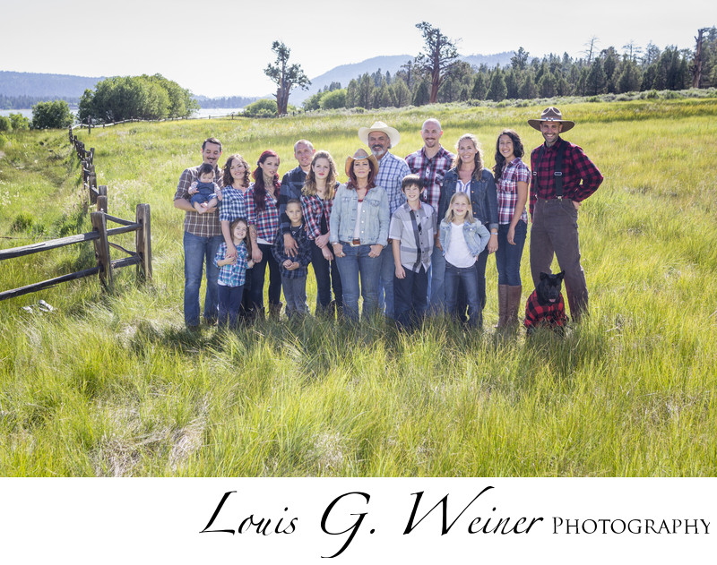 Family portraits by Big Bear Lake California