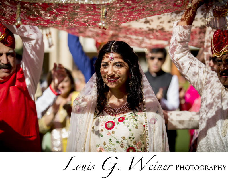 Destination Indian wedding Beautiful bride procession