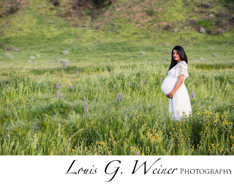 Redlands Maternity session with beautiful Indian Mom