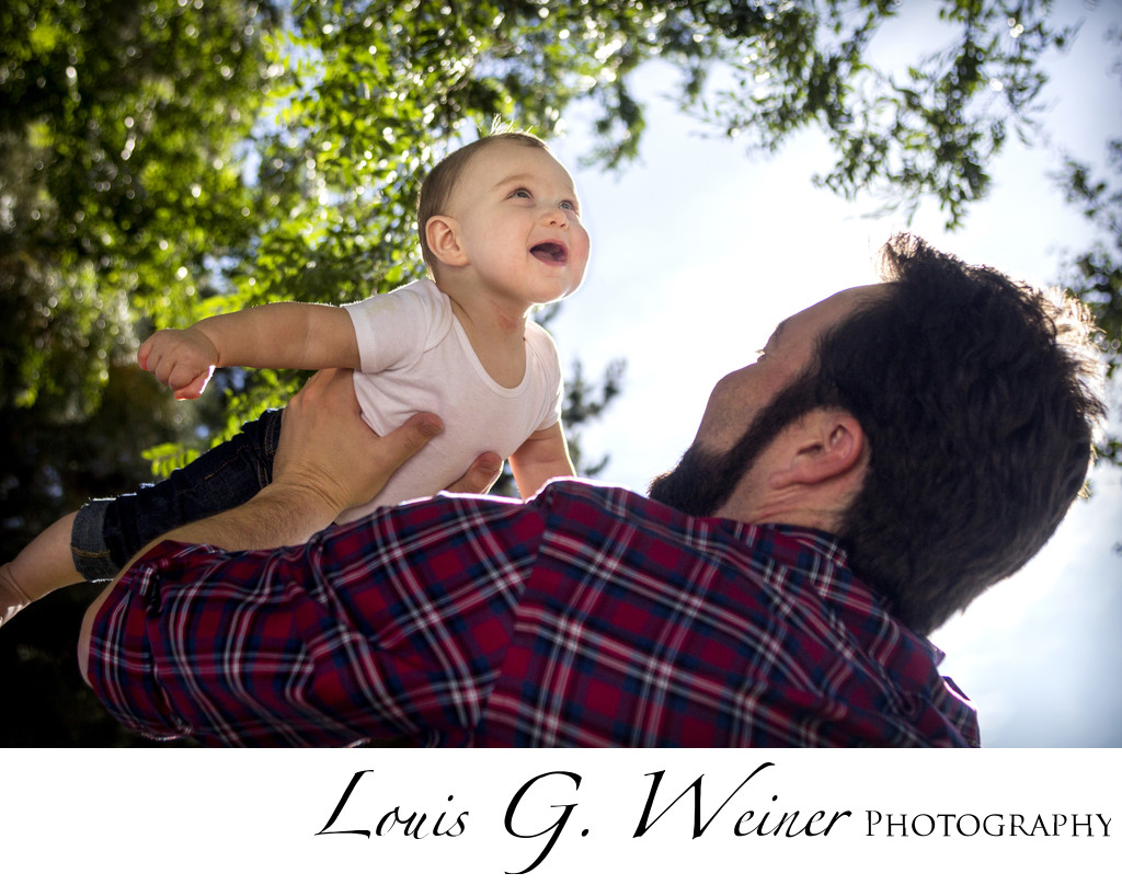 Chino, Ca Baby session of a father and his son playing