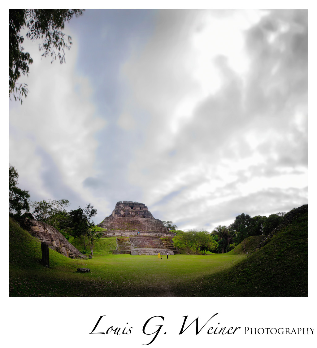 Mayan pyramid at Xunantunich, Belize Travel Photography