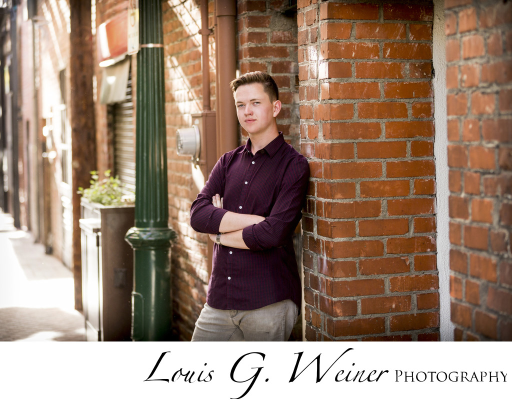 Riley, High School Senior Session, downtown Redlands CA