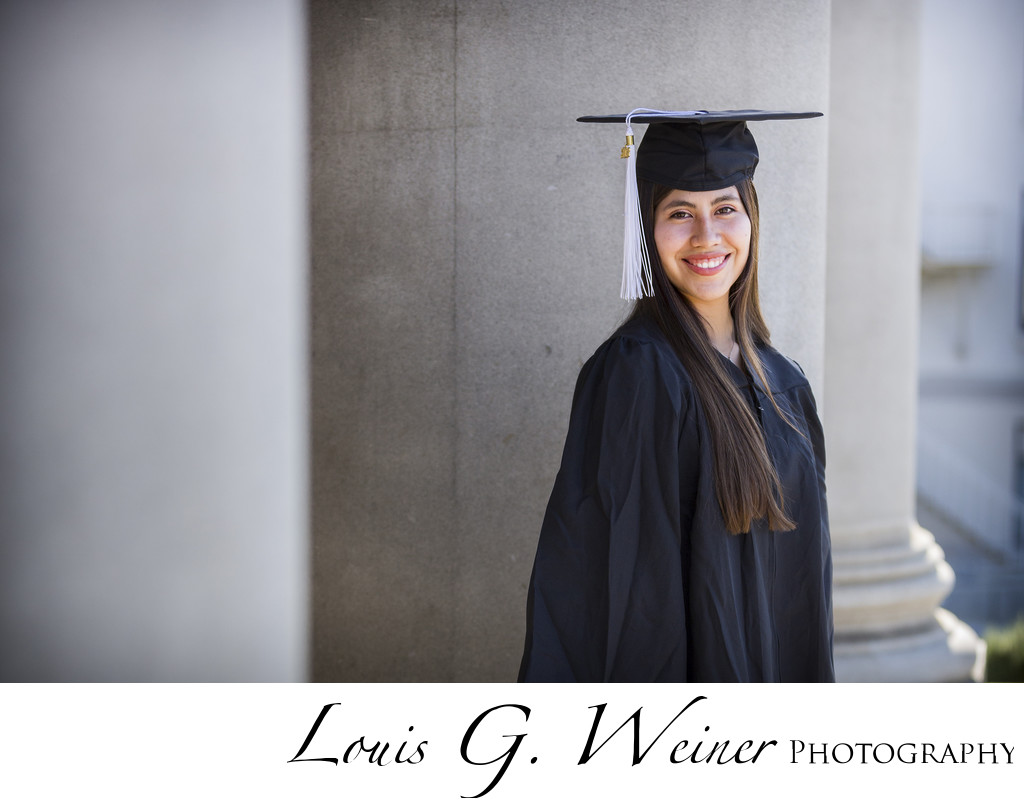 College Senior Portraits at university or Redlands, CA