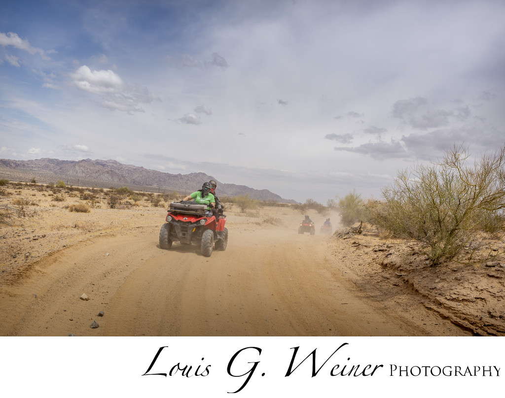 ATV action photo at Corporate retreat photography day