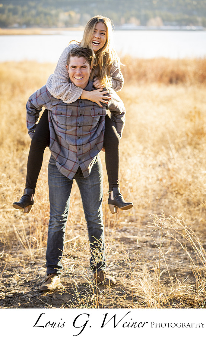 Couple photographs Outdoor in Big Bear Lake California
