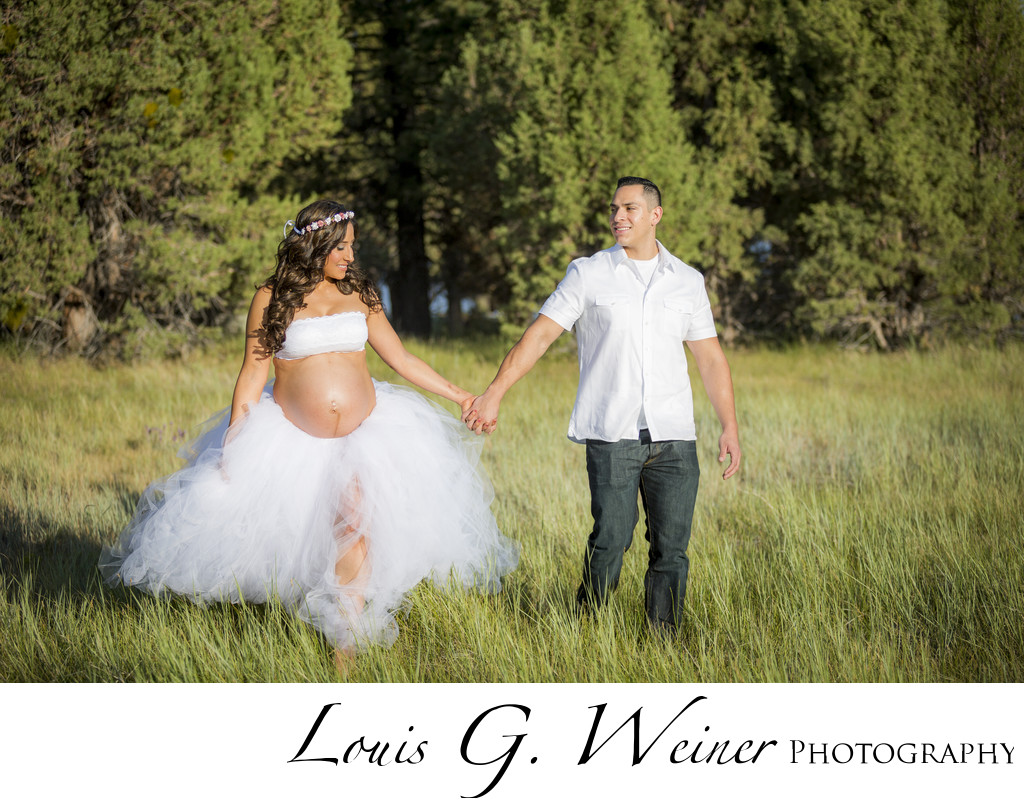 Big Bear fashion portrait Maternity photography session