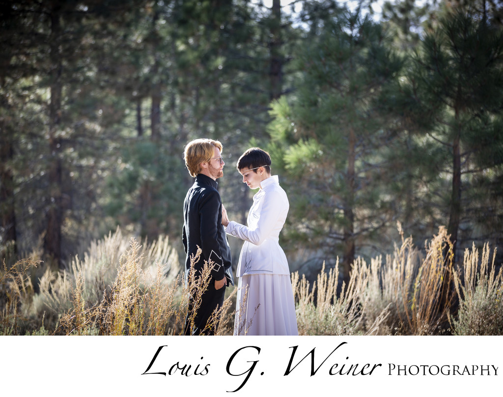 Wedding at Gold Mountain Manor, Ceremony in national forrest