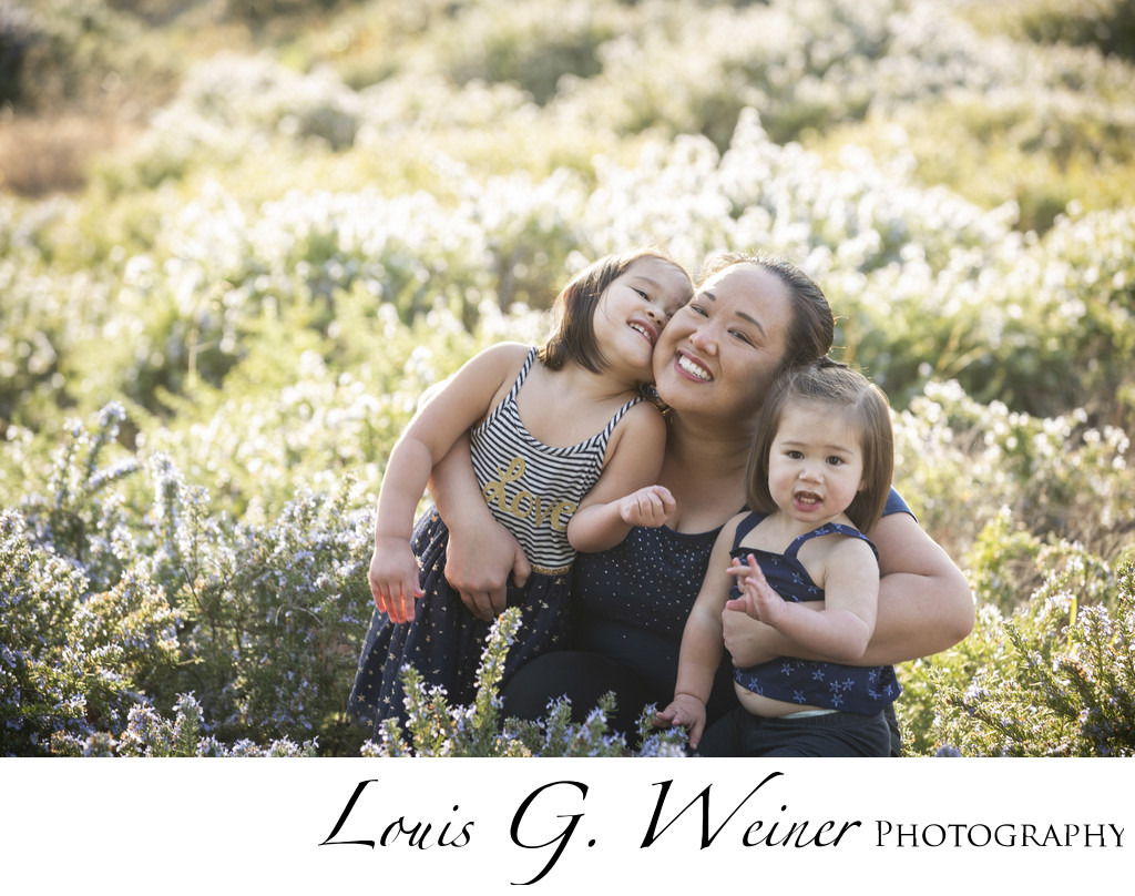 Family Portraits in Rancho Cucamonga, Mother and daughters