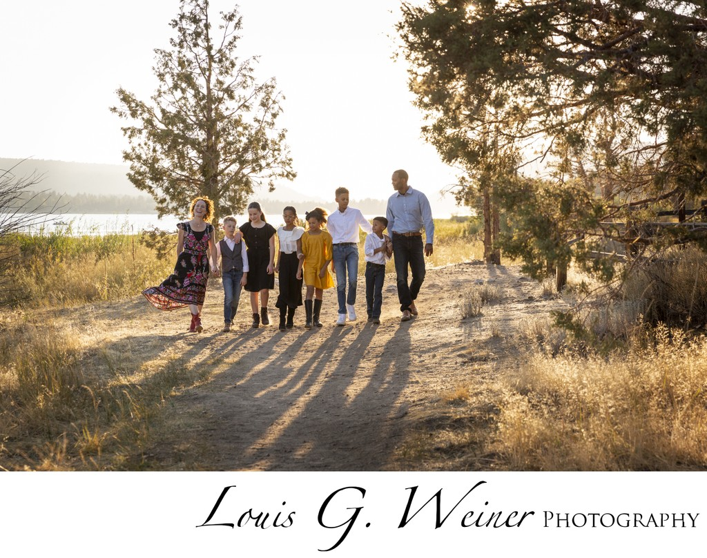 Family portraits at Juniper Point in Big Bear Lake