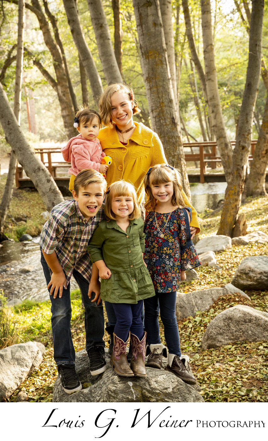 Mountain Family portraits at Seven Oaks Resort, California