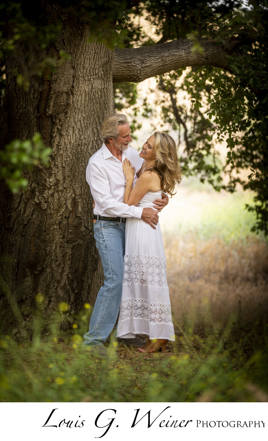 Redlands Engagement session under the oak trees