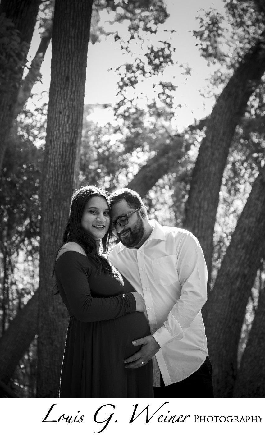 Happy couple for Maternity portraits with Weiner Photography