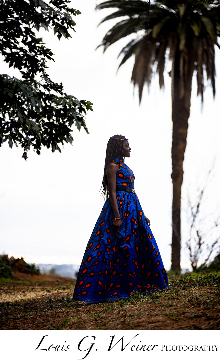 Silhouette fashion portrait photographed in Redlands CA