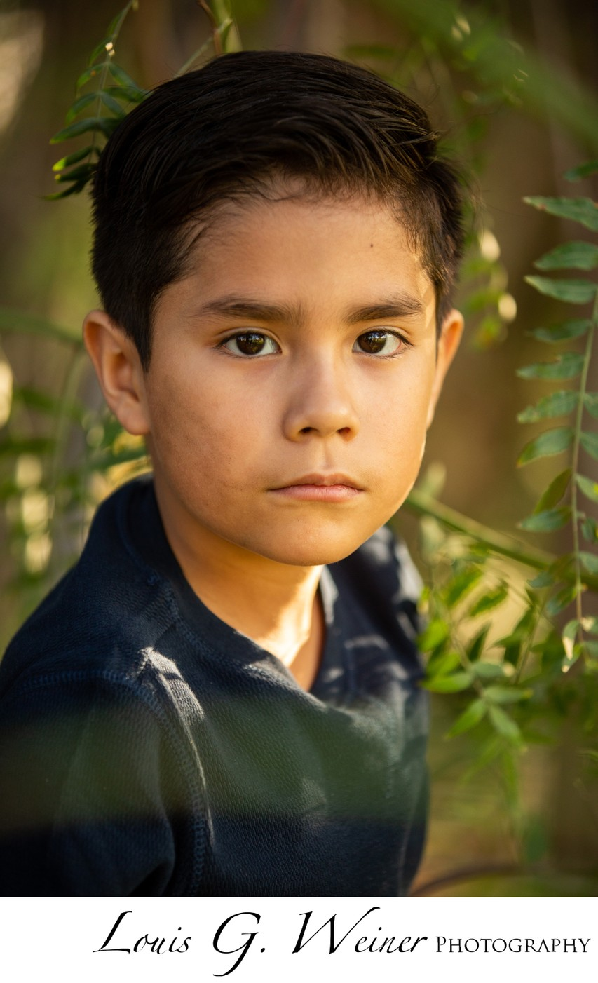 Mexican Boy's Portrait in Highland. Ca