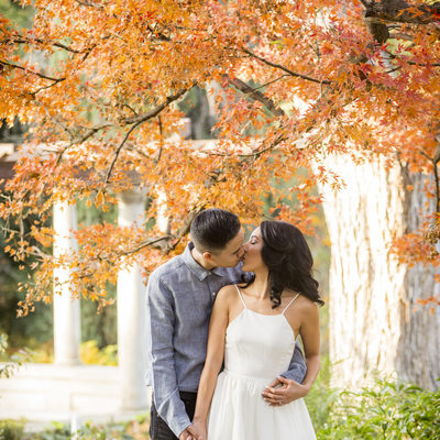Engagement session at Kimberly Crest and old town Redlands