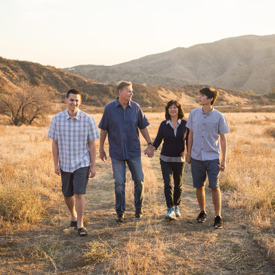 Fall Family portraits in Redlnads California