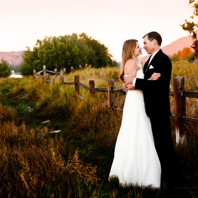 Wedding photography, couple portrait. Big bear lake Ca.
