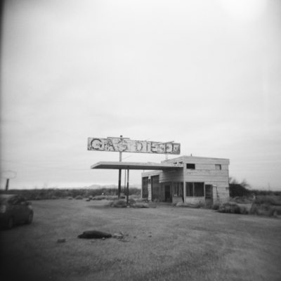 Dead gas station in Texas off the 10 freeway