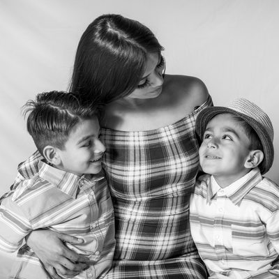 Fristers non-profit photography day mother and two sons