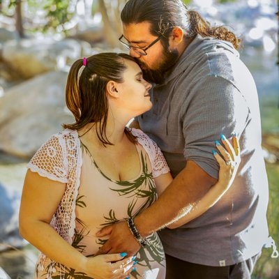 Katey and Manny's Maternity session at Mentone River