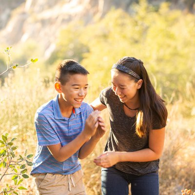 Sister and Brother Portrait in Mentone California