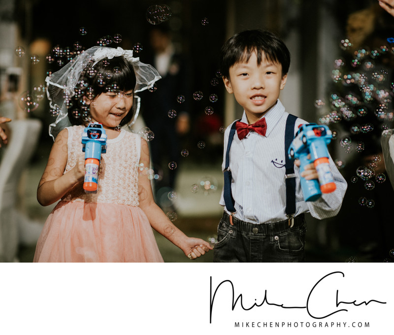 Wedding Photography Singapore Flower Girl & Page Boy