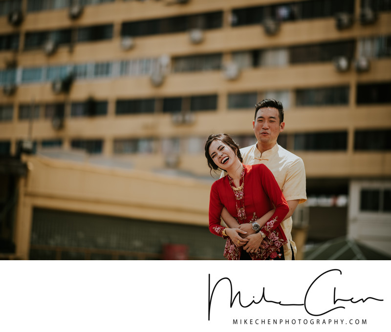 Actual Day Wedding Photography Singapore Outdoor Shoot