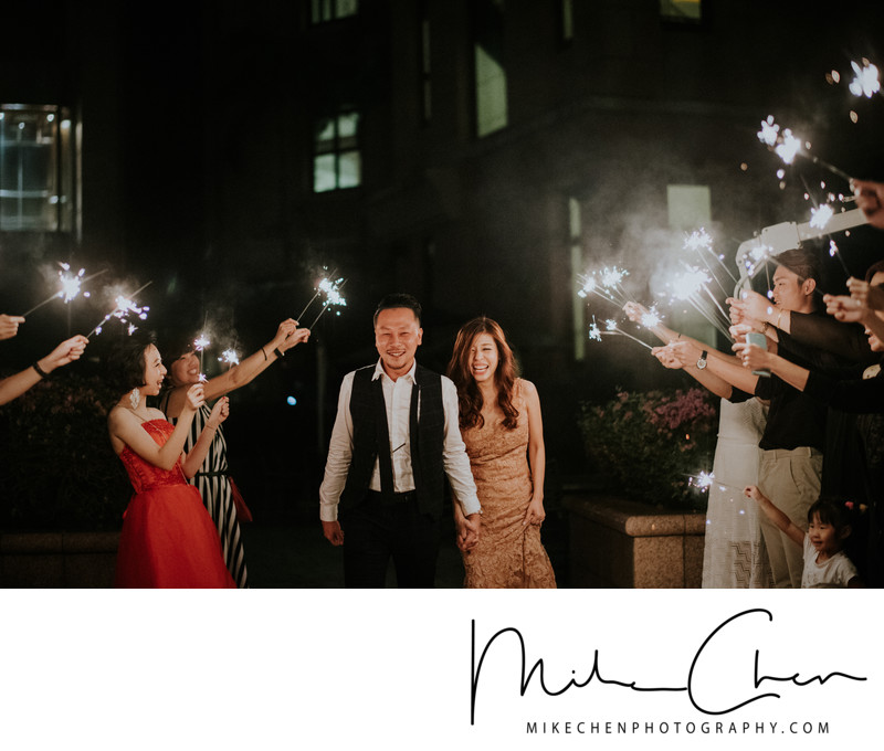 Wedding Sparklers Exit Singapore Raffles Town Club