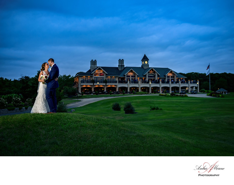 Scotland Run Golf Club Wedding at Sunset