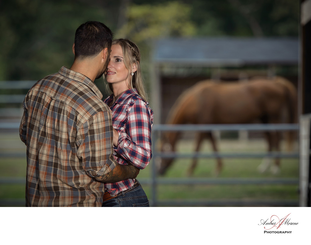 South Jersey couples Engagement at Horse Farm