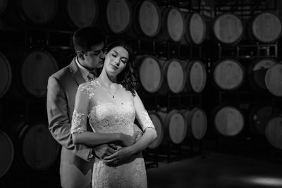 Valenzano Winery Wedding-Barrel Room