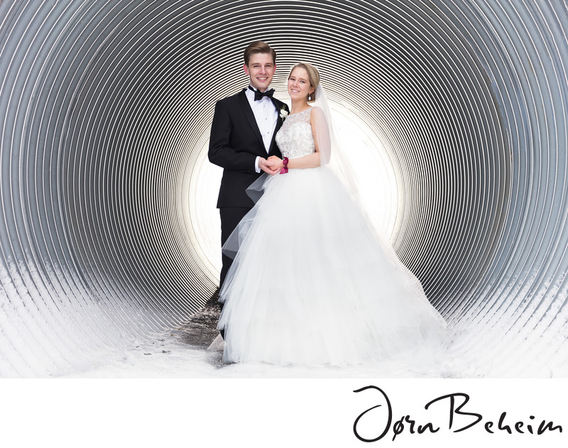 Tunnel of love - Bryllupsfotograf Jørn Beheim