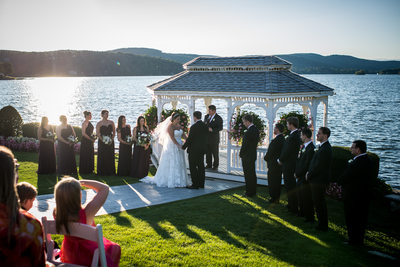 Wedding Photograph by the Lake