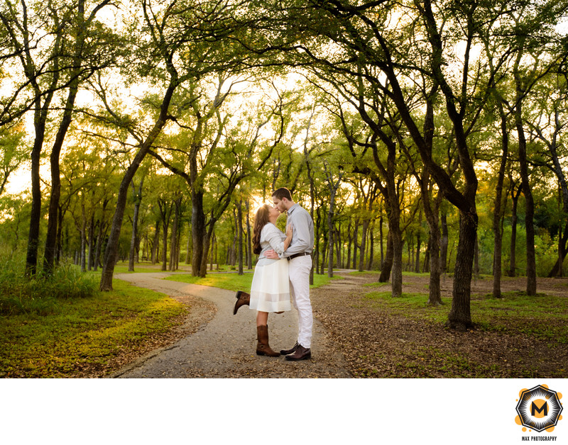 Engagement Photo at McKinney Falls State Park in Austin
