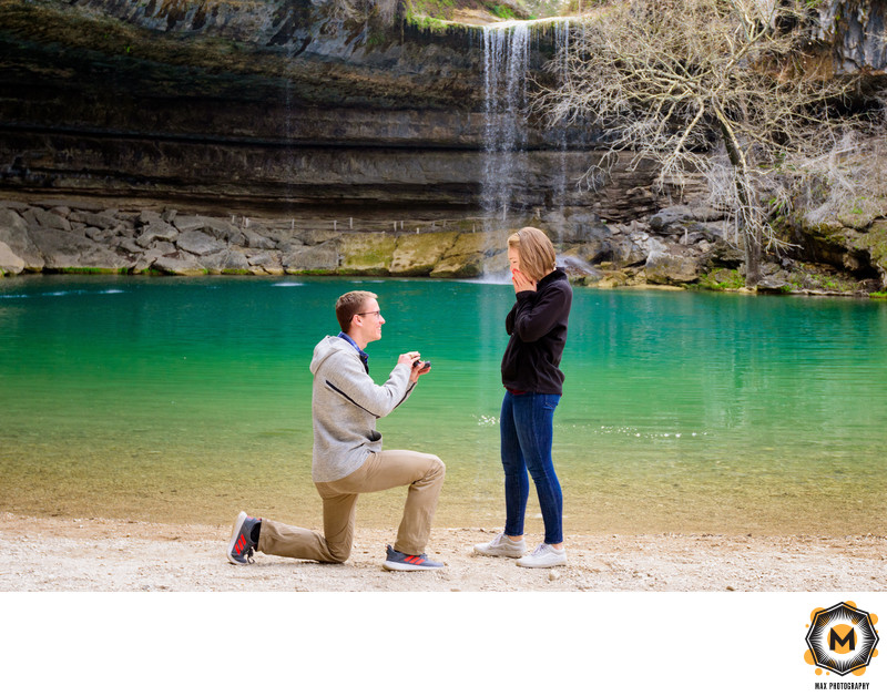 Hamilton Pool Surprise Engagement Photos