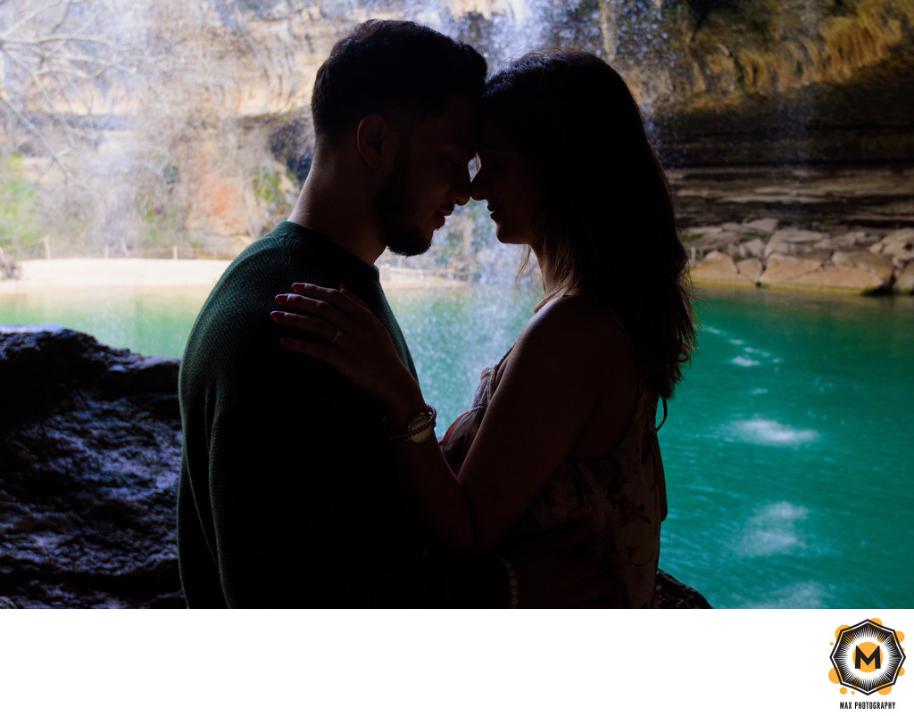 Hamilton Pool Surprise Proposal Photography
