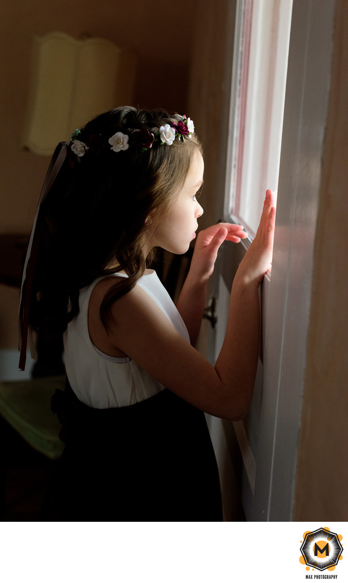 Flower Girl Peeking Out Window | Star Hill Ranch