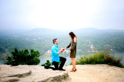 Mount Bonnell Wedding Proposal Photographer