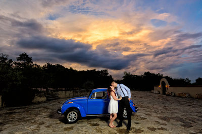 Chapel Dulcinea | Gorgeous Sunset with Volkswagen Bug
