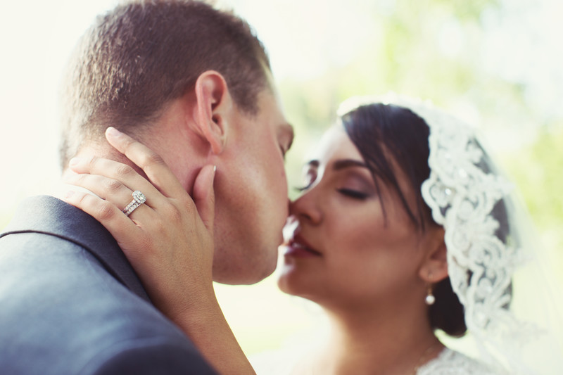 Bride and Groom Kissing Wedding Photography Photos