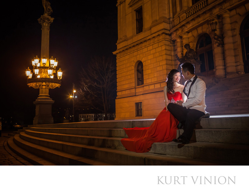Rudolfinum Symphony House Prague pre wedding photos
