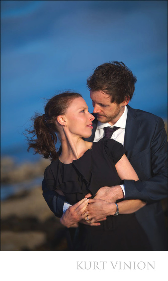 portrait of Brid & Nial during beach engagement session
