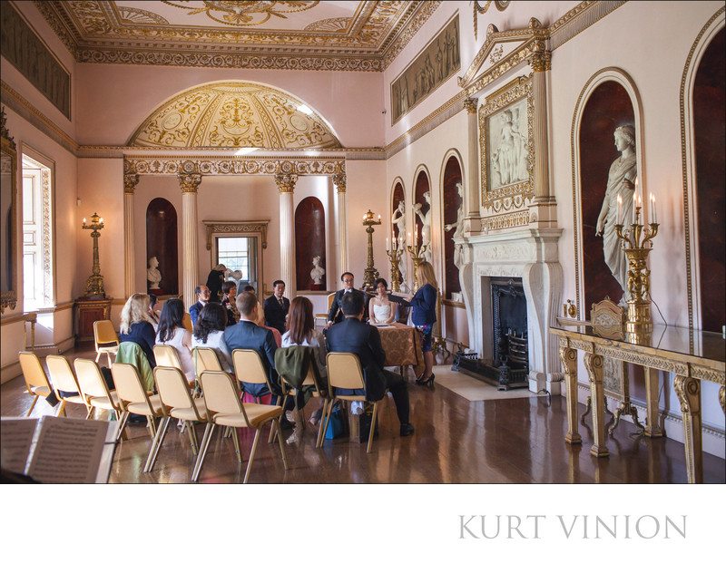 wedding ceremony of Sherry & Ken at the Syon House