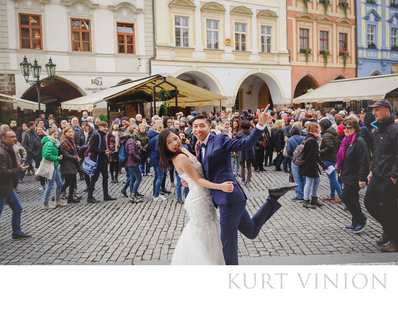 Prague Old Town Square pre wedding photo